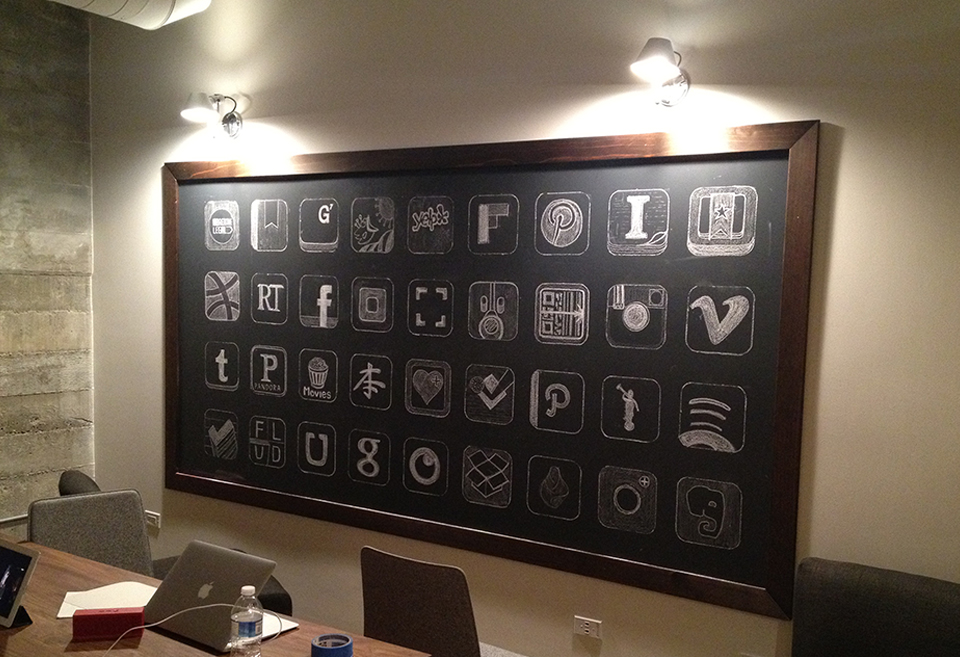 Scan Diy Conference Room Chalk Board Garrett Gee
