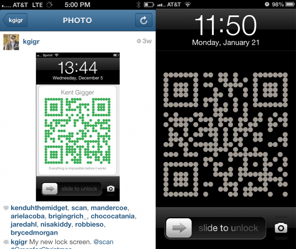 Scan Business Card Lock Screen