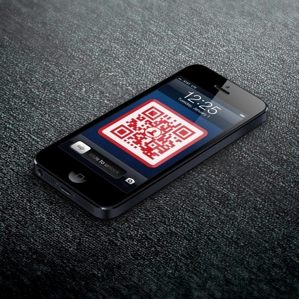 QR Code Lock Screen Business Card by Scan
