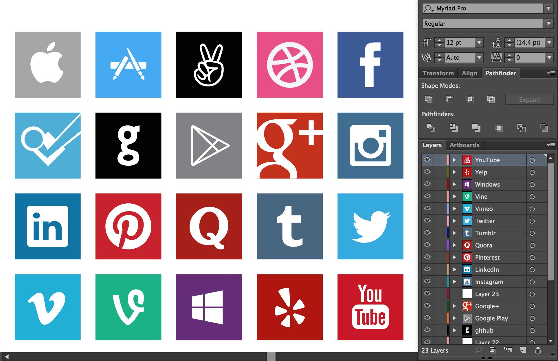 square social icons