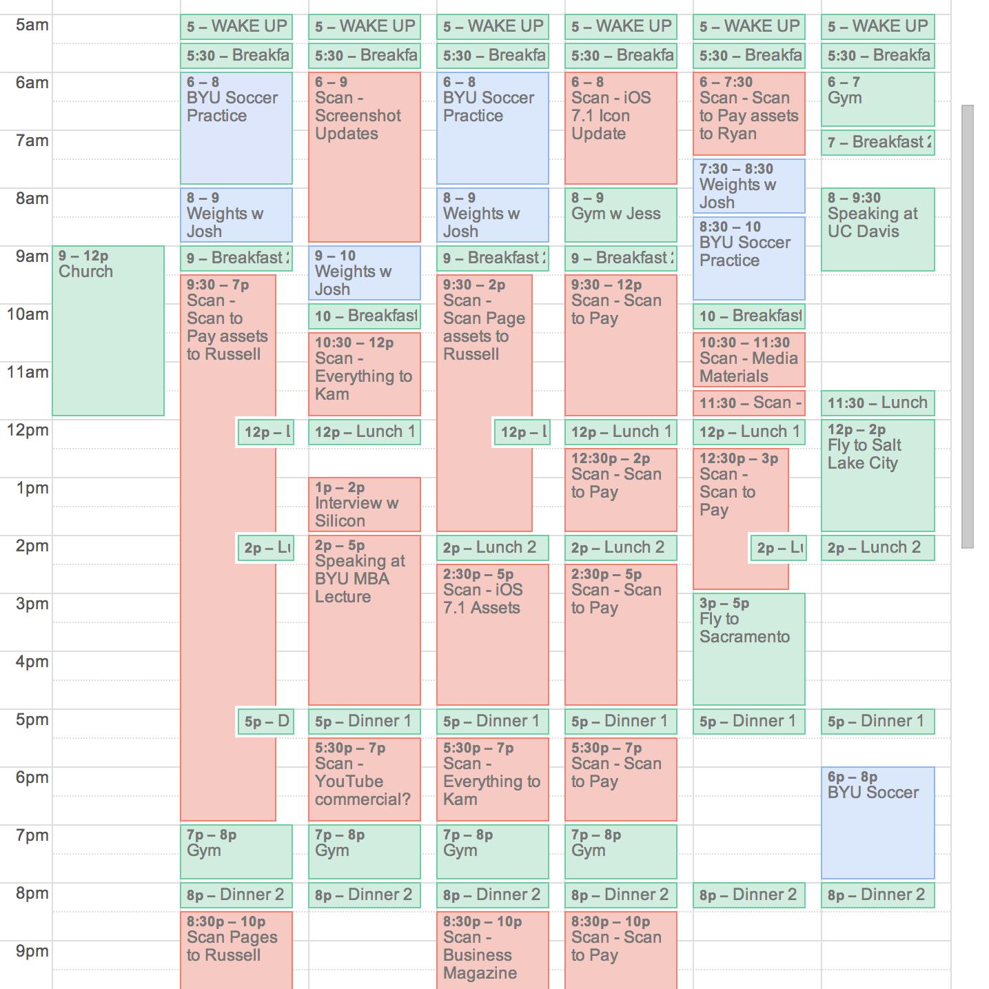garrett gee schedule