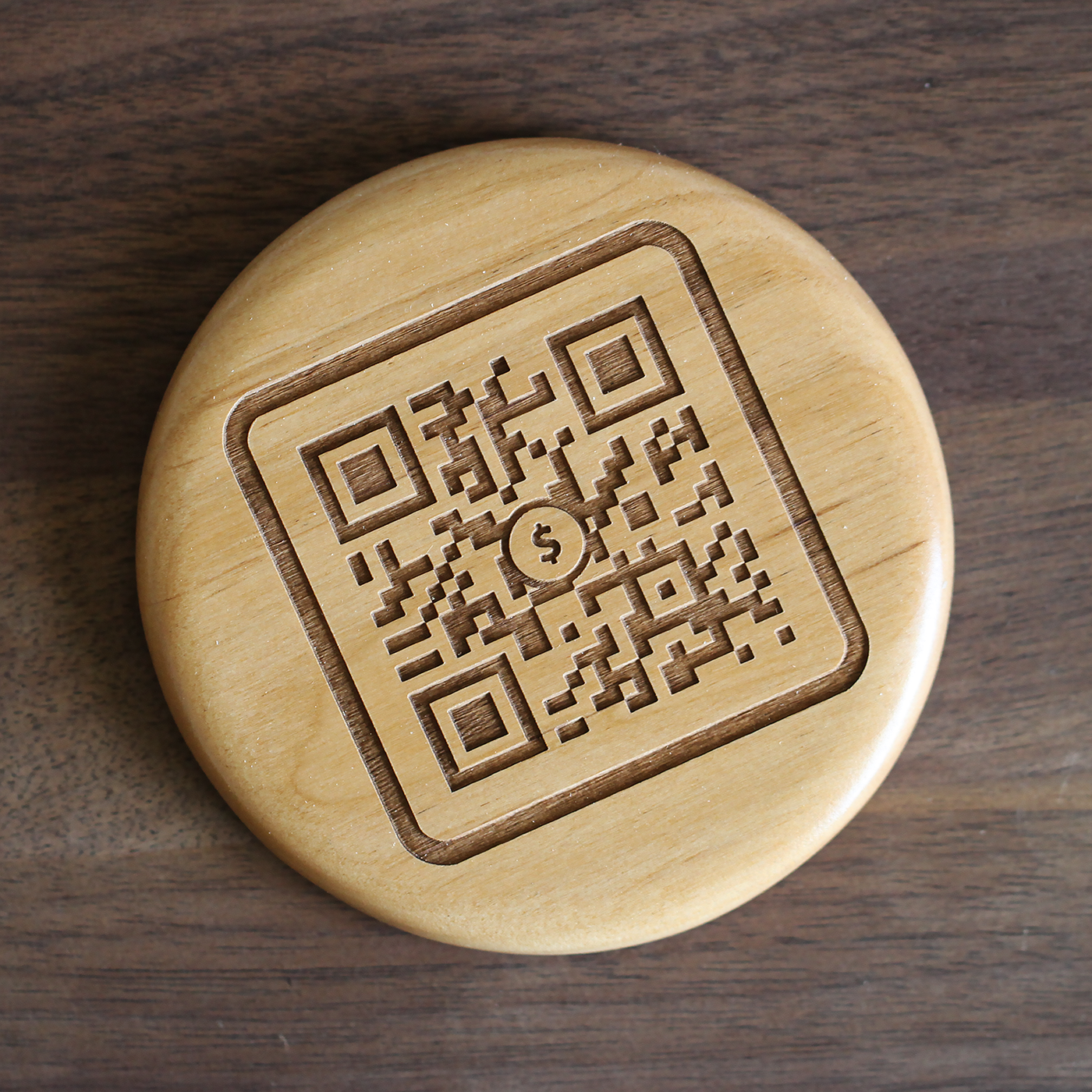 Custom Qr Code Wooden Coasters Made By Tinkering Monkey